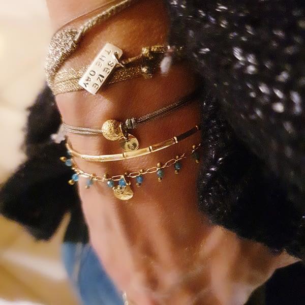 bracelet pampilles bleues2