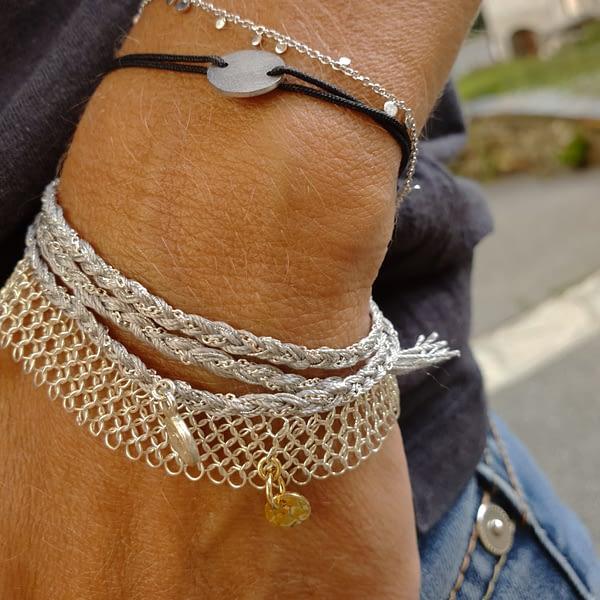 wish argent gris bracelet