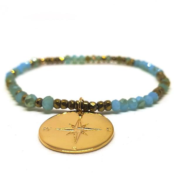 bracelet talisman plaque or