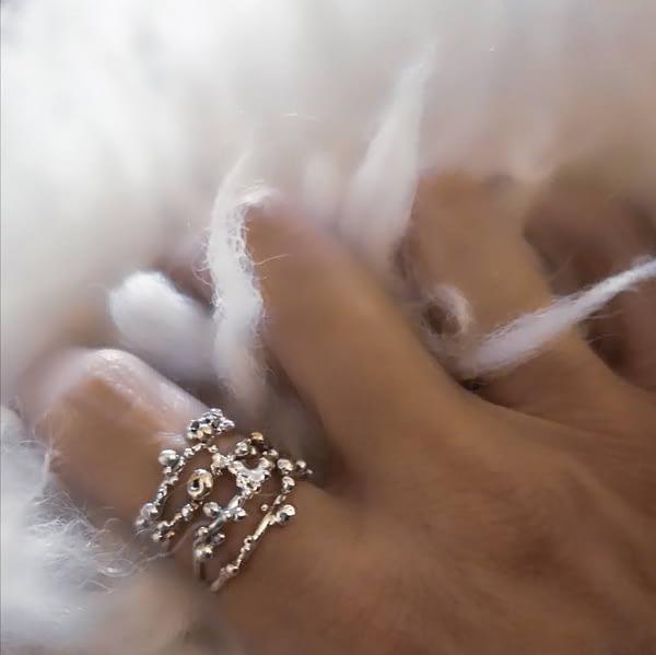 bague bourgeons argent bijoux fins 1